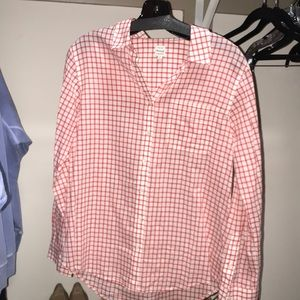 Madewell Red Plaid Button Up